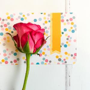 红色, 玫瑰, 花, 工艺, 卡, 纸张, 装饰