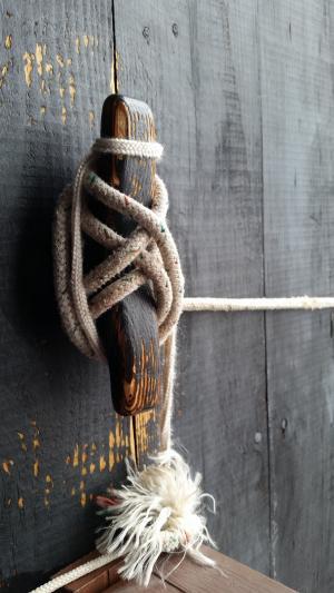 绳子, 结, 船领带, 回路, 紧, 绑, 木材