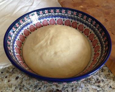 面团, 烘烤, 碗里, 面包, 烹饪, 食品