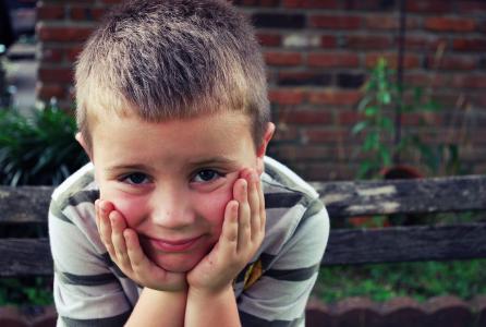男孩, 理念, 悲伤的眼睛, 学校, 思考, 等待, 在一旁等着