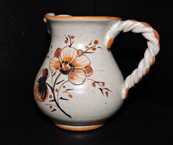双耳瓶, 花瓶, 兵马俑, 花, 黑色背景