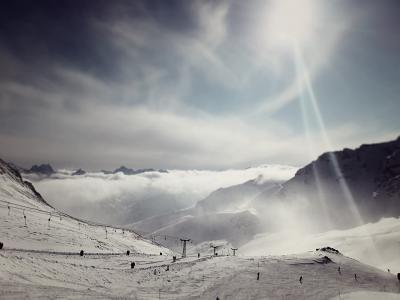 滑雪, 边坡, 山脉, 冬天, 雪, 滑雪, 体育