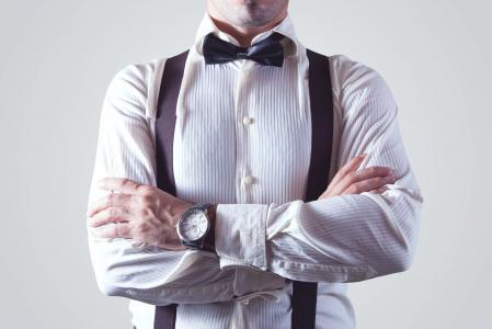 成人, 双臂交叉, 括号, 业务, 商人, 迪基弓, 迪克弓