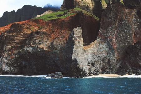 悬崖, 海岸, 自然, 海洋, 岩石, 海, waater