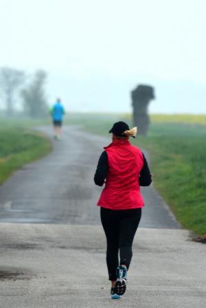 孤独, 慢跑, 体育, 运行, 健康, 当前, 生活方式