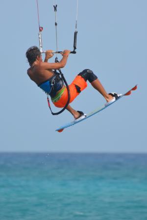 网上冲浪, 风筝冲浪, 男子, 人, 体育, 海, 海洋