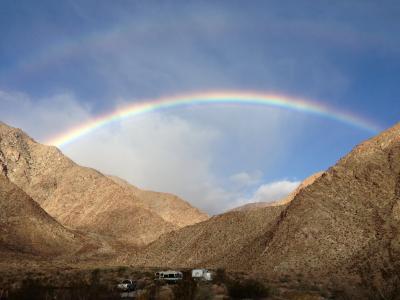 彩虹, 景观, 彩虹天空, 自然, 天空, 绿色, 蓝色