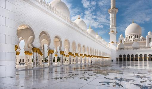 清真寺, 阿布达比, 旅行, 白色, 建筑, 东方, 圆顶