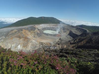 波阿斯火山火山, 火山, 哥斯达黎加, 旅行