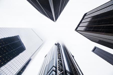 建筑设计, 建筑, 光明, 城市, 市中心, 雾, 玻璃