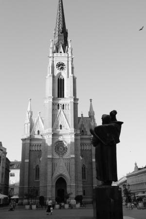 维萨, 塞尔维亚, 教会, 雕像, 黑色和白色, 建筑, 大教堂