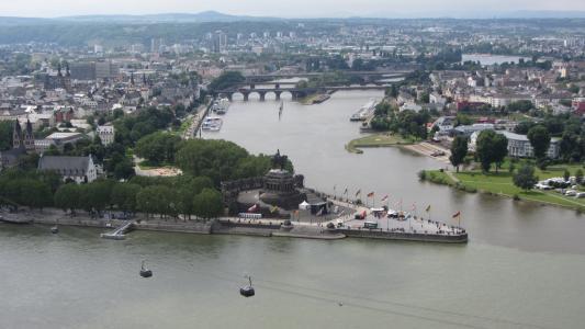 德国的角落, 科布伦茨, 莱茵河, 摩泽尔, 萨克森, 德皇威廉纪念碑