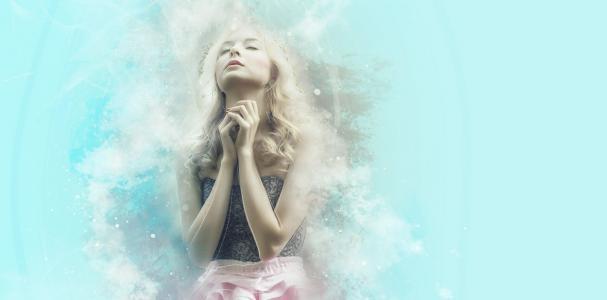 祈祷, 信心, 童话, 希望, 欲望, 梦想, 金发女郎