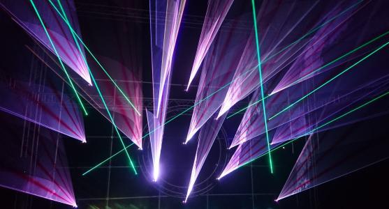 灯光, 激光, 音乐, 节日, 激光表演, 迪斯科舞厅, 一方