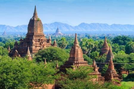 蒲甘, 缅甸, 考古区, 全景, minyeingon 寺, 教科文组织, 酸奶