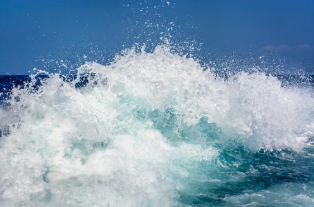 水, 飞溅, 流量, 水一滴, 下降, 溅射, 海