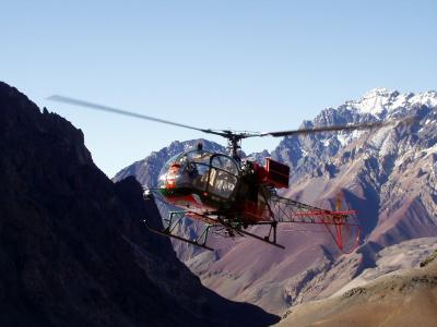 直升机, 山地救援, 阿空加瓜峰, 远征, 安第斯山脉, 阿根廷, 山