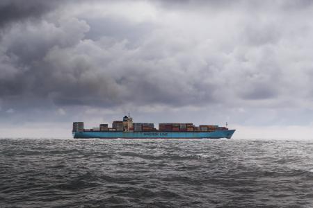 小船, 云彩, 容器, 海洋, 海, 船舶, 运输