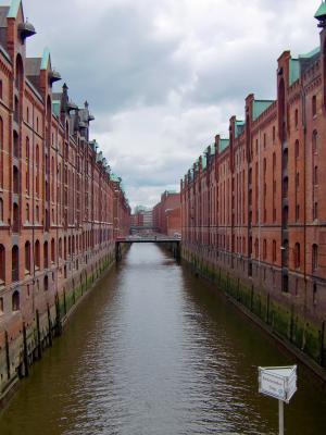 一起, 汉堡, 砖, 建设, 老 speicherstadt, 建筑, 家园
