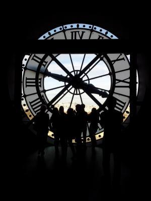 巴黎, 时钟, 时间, 人, 模拟时钟, 滴答, 分钟