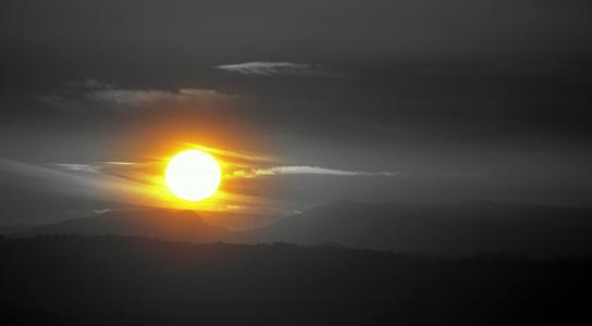 太阳, 黎明, 输出太阳, 景观, 天空, 云彩, 觉醒