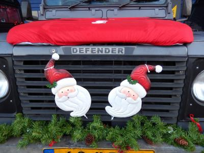 路虎, 圣诞节, 圣诞老人, 汽车装饰