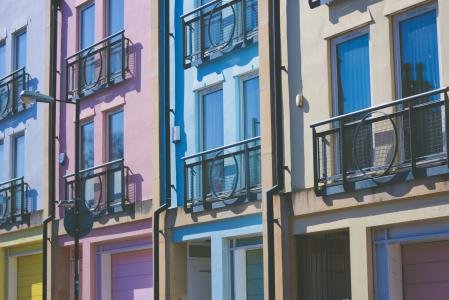 公寓, 建筑, 建筑, 多彩, 色彩缤纷, 立面, 单位