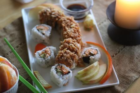 寿司, 食物安排, 龙卷, 美味, 安排, 顿饭