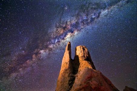 银河, 岩石, 晚上, 景观, 尖塔, 澳大利亚, 天空