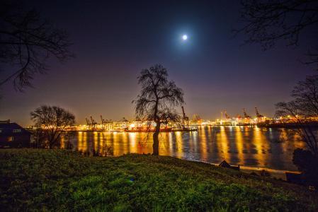汉堡, 汉堡港, 易北河, 水, 船舶, 汉堡的天际线, 汉萨同盟