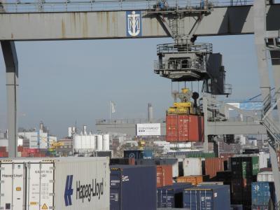 集装箱, 起重机, 端口, 航运, 运输, 加载, 装载起重机