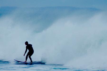 人, 冲浪, 剪影, 白天, 男子, 水, 浇水