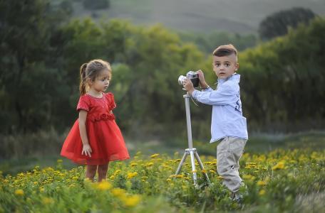 儿童, 模型, 可爱, 女孩, 女性, 肖像, 宝贝