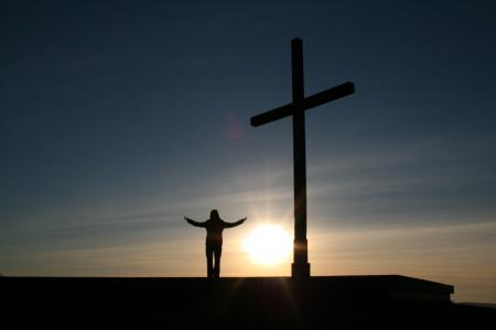 人, 诊所, 十字架, 宗教, 日落, 人类, 神