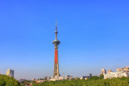 中国, 江苏, 南京, 广播电视塔, 建筑, 天际线, 城市