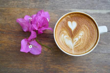 咖啡, 咖啡厅, 表, 食品, 饮料, 背景, 餐厅