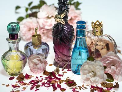 花, 玫瑰, 干, 玫瑰花瓣, 香水, 香水瓶, 窗体