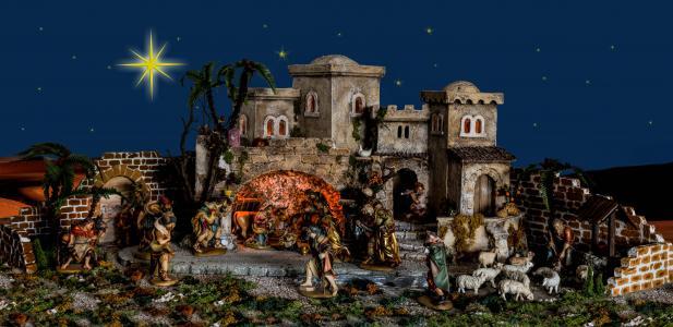 圣诞节, 伯利, 婴儿床, 耶稣诞生, 耶稣, 诞生场面, 桑顿
