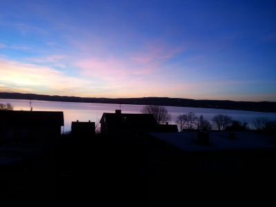 汉密尔, 黎明, 早上, 云计算, 湖, 很漂亮, 视图