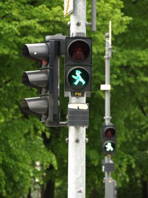 交通灯, 柏林, 信号, 红绿灯, 交通, 街道, 路标