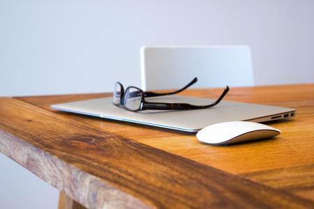 macbook, 笔记本, 家庭办公室, 工作站, 办公室, 博客, 写作