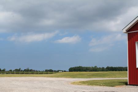 景观, 谷仓, 蓝蓝的天空, 自然, 农场, 农村, 风景名胜