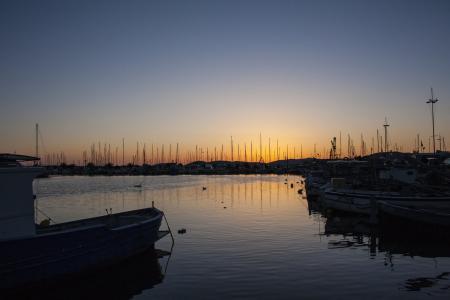 阿尔盖罗, 波尔图, 日落, 景观, 海, 小船, 天空