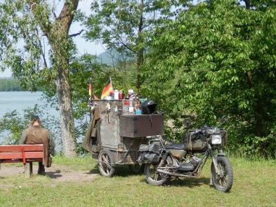 摩托车, 而作, 拖车, 规定, 股票, 休息, 在湖上休息
