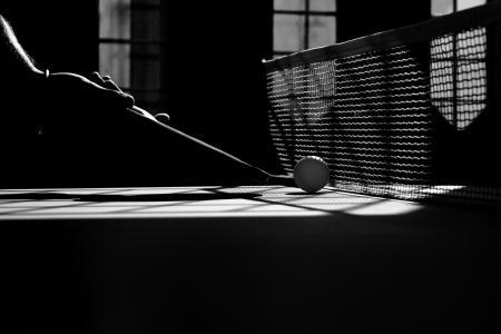 乒乓球, 单色, 体育, 球拍, 活动, 球, 休闲游戏