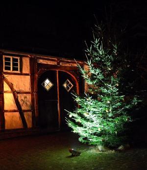 圣诞节, fachwerkhaus, 照明, 心情, 浪漫, 气氛, 圣诞节的时候