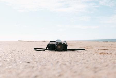 海岸, 自然, 相机, 摄影, 海滩, 白色, 沙子