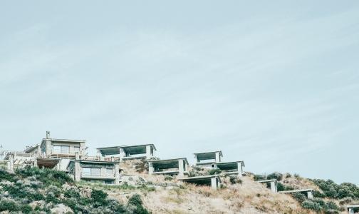 山坡上, 房屋, 建筑, 住宅, 景观, 住房, 山