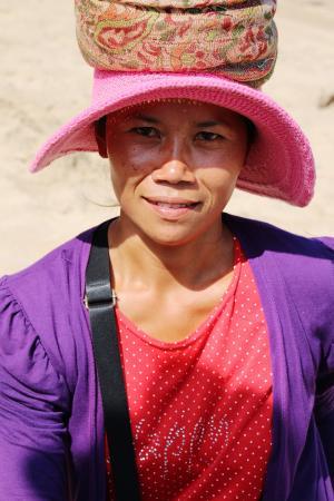 肖像, 巴厘岛, 女人, 印度尼西亚语, 脸上, 特征
