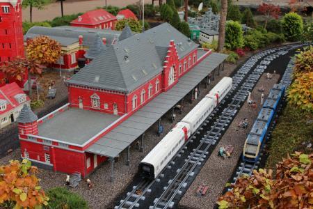 乐高, 火车站, 从乐高, 铁路, 高, 丹麦, 比
